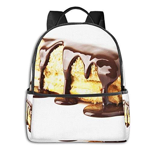 Schulrucksack Schultaschen Mädchen Teenager Rucksack Schultasche Schulrucksäcke wasserdichte Backpack für Damen Herren Geeignet 14 Zoll Notebook Nachtisch-Sahnekuchen-Schokoladen-Bonbon