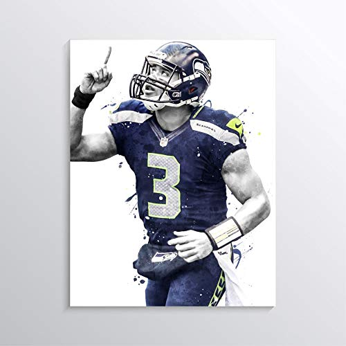 Amazon Com Russell Wilson Poster Print Russell Wilson Artwork Seattle Seahawks Poster American Football Print Football Wall Art American Football Poster Nfl Wall Decor Man Cave Sport Gifts Handmade