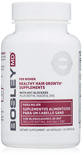 BosleyMD Healthy Hair Growth Supplements for Women, 60 Day Supply (Packaging May Vary)