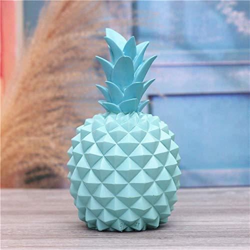 Erfhj Abstract hars ananas geld doos home decoratie cash munt spaarpot creatieve geld doos ananas decoratie, Rood