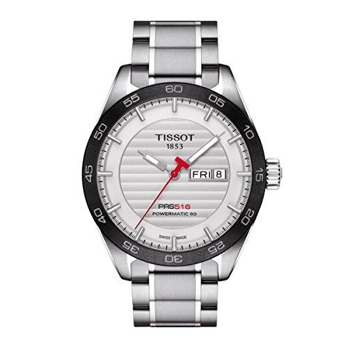 Tissot - Reloj PRS 516 Powermatic 80, T1004301103100, automático de acero inoxidable para hombre