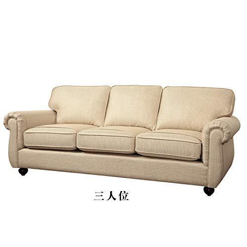 LKU sofá Juego de sofás para Sala de Estar Muebles de Lino de Terciopelo Tela de cáñamo sofás seccionales Puff Asiento Muebles de Sala canape sofá de 3 plazas Cama, 1