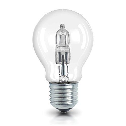 OSRAM Halogen Lampe E27 dimmbar Classic A /  30W - 40 Watt-Ersatz, Halogen Birne als Kolbenlampe / klar, warmweiß - 2700K, 5er-Pack