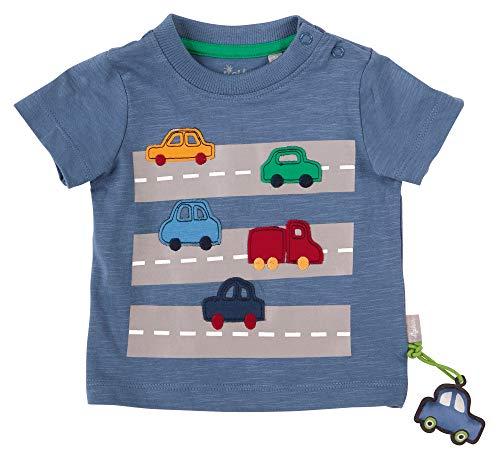 Sigikid Baby-Jungen T-Shirt, Autos/Blau, 86