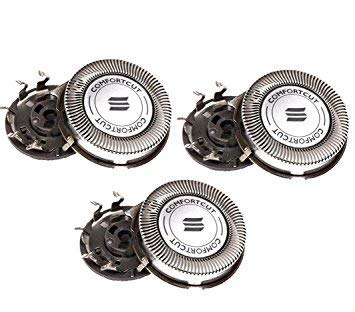 New Set of 3 Premium HQ8 Replacement Heads Blades Compatible with Norelco PT720 PT724 PT730 AT810 AT830 - Buy4less Outlet