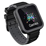 Kids Smartwatch Phone for Boys Girls with HD Touch Screen, Smart Watch for Kids with Games Music Player Two-Way Call SOS Flashlight Calculator Recorder Alarm Clock, Birthday Gifts for 3-12Y (BLACK)