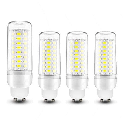 COMY Bombillas LED GU10 10W 1000LM GU10 LED Maíz Bombilla Equivalente a 100W Lámpara Incandescente, Ángulo 360, Sin Parpadeo, No Regulable, Aquete de 4,Cool White