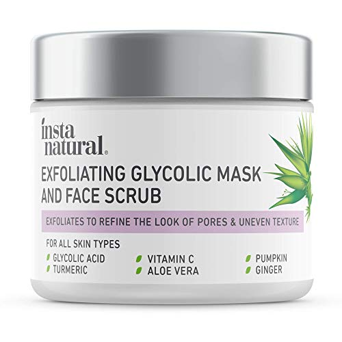 InstaNatural Exfoliating Glycolic Face Mask &...