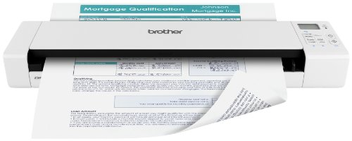Brother Wireless Mobile Color Page Scanner, DS-920W, Wi-Fi Transfer, Fast Scanning Speeds, Compact and Lightweight