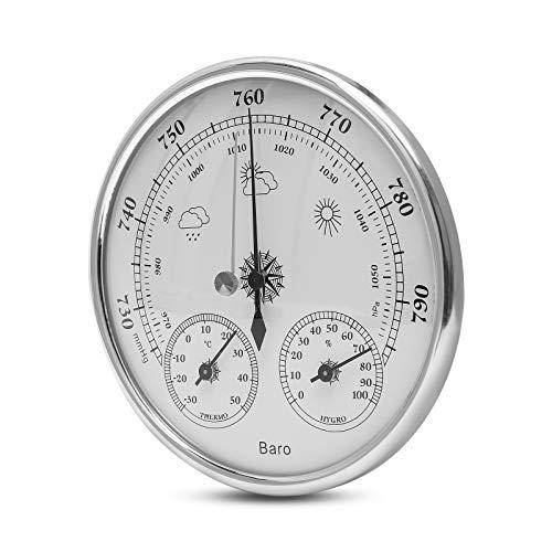 wolketon Wetterstation analog Thermometer Hygrometer innen Außenwetterstation analog Luftfeuchtigkeitsmessgerät Zimmerthermometer, Hängen oder Stellen, für Keller Familienzimmer Babyzimmer