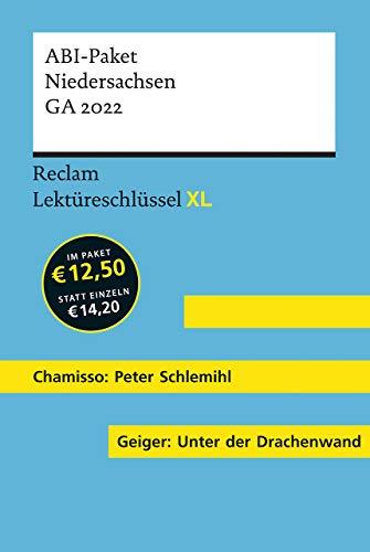 Lektüreschlüssel XL. ABI-Paket Niedersachsen GA 2022: Chamisso: Peter Schlemihls wundersame Geschichte. Geiger: Unter der Drachenwand. 2 Bände eingeschweißt (Reclam Lektüreschlüssel XL)