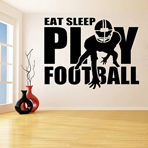 guijiumai Spielen Fußball Mit Spieler Entfernbare Wandaufkleber für Kinder Teen Schlafzimmer Wohnkultur Vinyl wasserdichte Abziehbilder Living Roo 119X142CM
