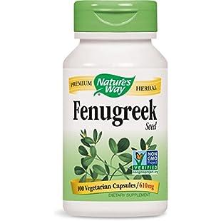 Nature's Way Premium Herbal Fenugreek Seed 610 mg per Vegetarian capsule, 100 Count:Donald-trump