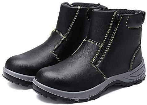 Terrarum Lens mannen veiligheidsstalen teen anti-slip rits laarzen waterdichte outdoor lassen werkschoenen - 39,39
