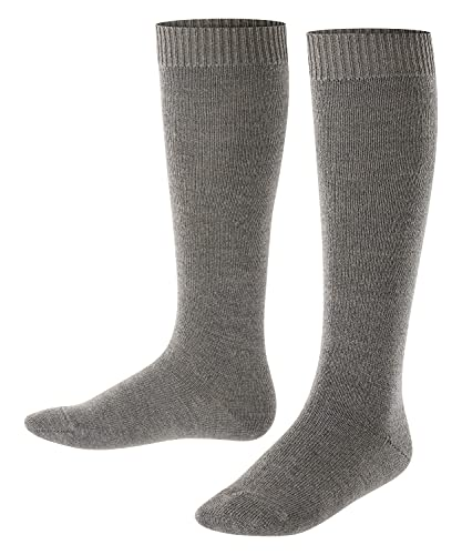 FALKE Unisex Kinder Comfort Wool K KH Socken, Grau (Dark Grey 3070), 31-34