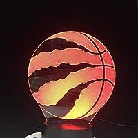 バスケットボール3D LEDナイトライトクリエイティブホームデコレーション3Dビジョン3Dビジュアル照明7色変更USB充電テーブルランプ誕生日プレゼントエンターテイメント装飾ギフト子供のおもちゃ [並行輸入品]