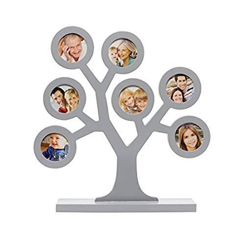 Pearhead P62112 Familien Stammbaum Erinnerungs Rahmen, grau