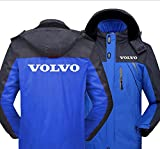 Impermeable Esquí MontañA Chaquetas para Hombre por Volvo Invierno CáLido Chaqueta con Capucha A Prueba de Viento Abrigos de Nieve con Capucha ExtraíBle Azul,5XL