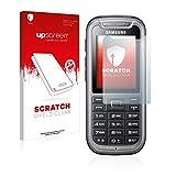 upscreen Schutzfolie kompatibel mit Samsung C3350 – Kristallklar, Kratzschutz, Anti-Fingerprint