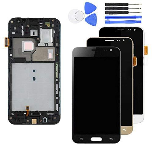 Kit de reparación Completo para Samsung Galaxy J3 2016 J320F SM-J320FN de Pantalla LCD con Kit de reparación de Pantalla para reemplazar tu teléfono dañado, Agrietado y destrozado Dorado