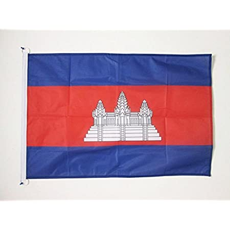 Az Flag Cambodia Flag 2 X 3 For Outdoor Cambodian Flags 90 X 60 Cm Banner 2x3 Ft Knitted Polyester With Rings Garden Outdoor