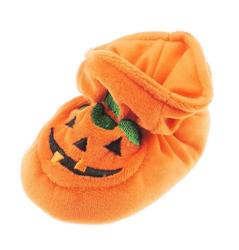 Super Leuke Baby Jongens Meisjes Pram Padders Laarzen Slippers Oranje Halloween Thanksgiving Enge Pompoen