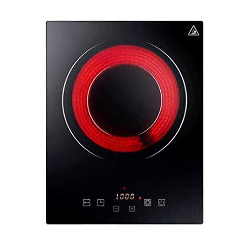 XIUYU Einbau-Induktionskochfeld hohe Leistung 2300W elektrischen Keramikofen, voll mikrokristallinem Panel Touch Control sicher ohne Strahlung, Schwarz (Color : Black)