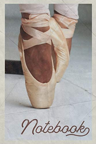 Notebook Ballet Pointe Shoes Petite Composition Book Journal Diary for Men Women Teen Kids Vintage product image