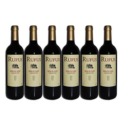 RUFUS vino tinto Cosecha, Tempranillo, D.O. Ribera del Duero Caja 6 botellas de 750 ml - Total: 4500 ml