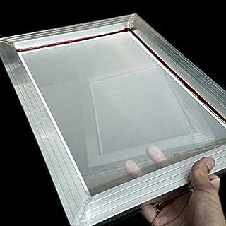 WHHHuan 1pc A3 Sérigraphie Cadre en Aluminium 31 * 41cm avec microester de Polyester à imprimé en Soie 43T Blanc pour Cart...