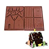 Palksky Christmas House Chocolate Mold/3D Gingerbread House Cookie Mold DIY Max Biscuit baking tool