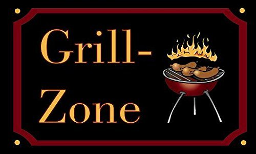 UB Fahne/Flagge Grill - Zone Grillfahne BBQ 90 cm x 150 cm Neuware!!!