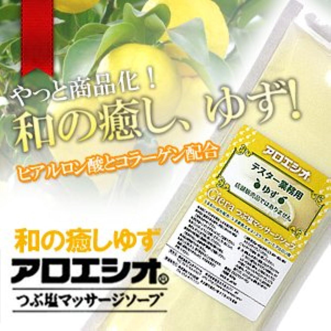 溶融セレナわずらわしいゆず アロエ塩 800g つぶ塩マッサージソープ/フタバ化学 アロエシオ