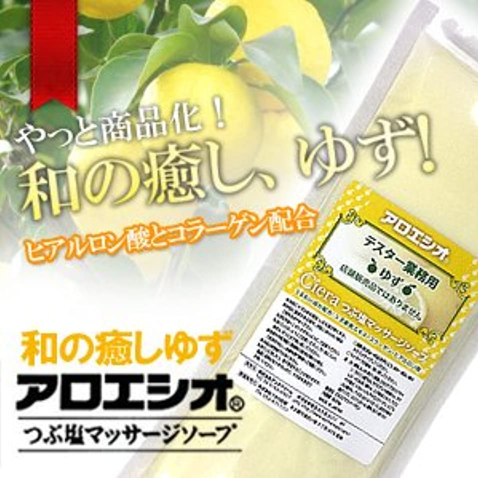 手伝うモス別れるゆず アロエ塩 800g つぶ塩マッサージソープ/フタバ化学 アロエシオ