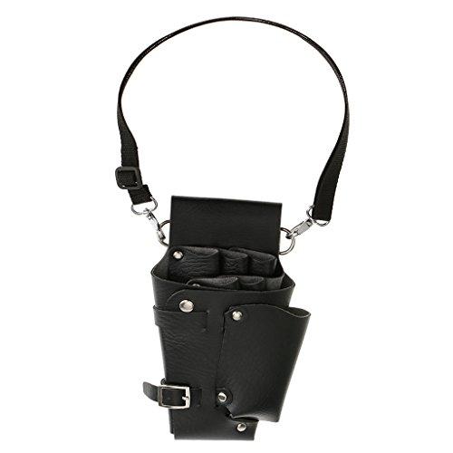 Baosity 多機能  腰掛 PUレザー はさみ袋 鋏収納 ツールバッグ 調節可能 理美容 理髪師 サロン 軽量 ベルト付き 耐久性