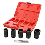 ABN 1/2in Drive Lug Nut Rounded Bolt Remover Socket Set...