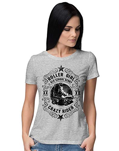 BLAK TEE Roller Girl Old School Derby Crazy Rider Vintage Femme T-Shirt