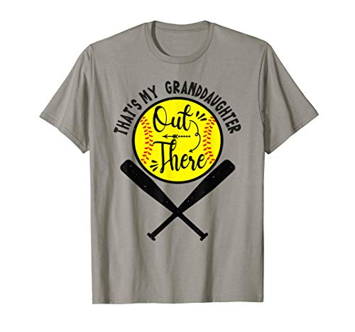 That's My Granddaughter Out There Softball Grandma Grandpa T-Shirt