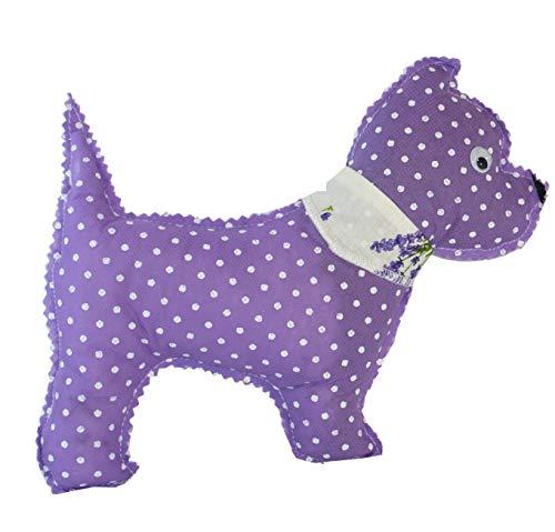 Handmade Design - Lavendelkissen - Duftkissen - mit echtem Lavendel (Hund - Lila, 19 x 23 cm)