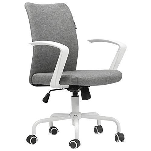Silla de computadora en blanco y negro, silla giratoria simple para el hogar, silla de estudio, asiento para dormitorio, silla de oficina, silla de escritorio para estudio cómoda