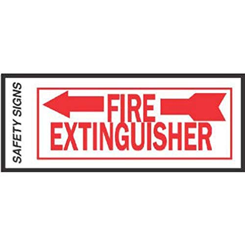 Hy-Ko #FE-2L 4x10 Fire Extinguisher Sign Left Arrow