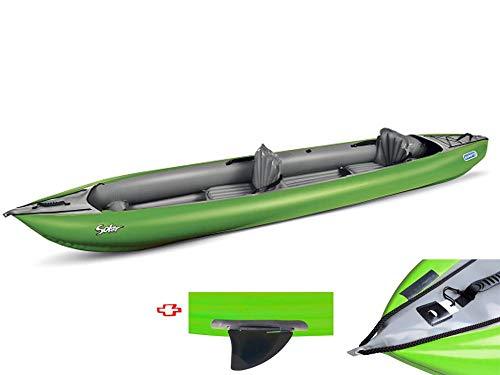 Gumotex - Canoa Gonfiabile Solar/019 Verde con Pinna 045383-G (1C/11C) GUMOTEX