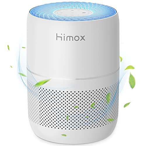 HIMOX Purificatore d'aria H13 True HEPA per Casa Uffici con Aromaterapia + Timer + Monitoraggio Intelligente Della Qualità dell'aria, Rimuove il 99,97% di Allergeni e Particelle fini, Fino a 40㎡