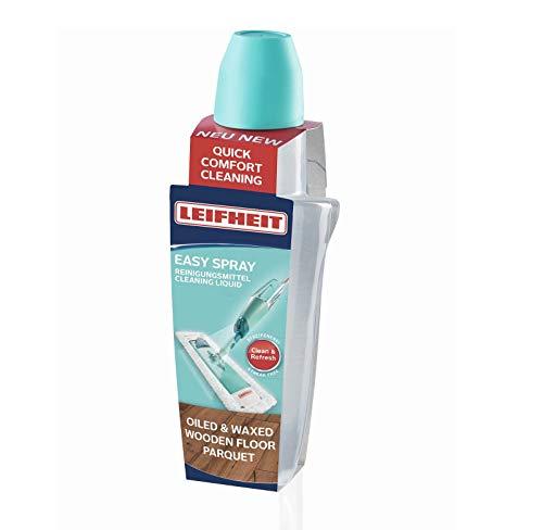 Leifheit Reinigungsmittel-Kartusche für geöltes und gewachstes Parkett, passend für Leifheit Sprühwischer Art. Nr. 56690, Bodenreiniger ohne Schlieren dank optimaler Dosierung, Parkettreiniger