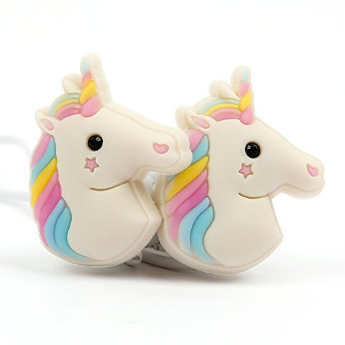 """DURAGADGET Kids in-Ear 3D Rainbow Unicorn Earphones with Microphone - Compatible with Curtis DVD7015UK Portable 7 inch DVD Player & Akai 7"""" Portable DVD with Digital TV"""