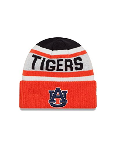 New Era NCAA Auburn Tigers Biggest Fan 2.0 Cuff Knit Beanie, Orange, One Size