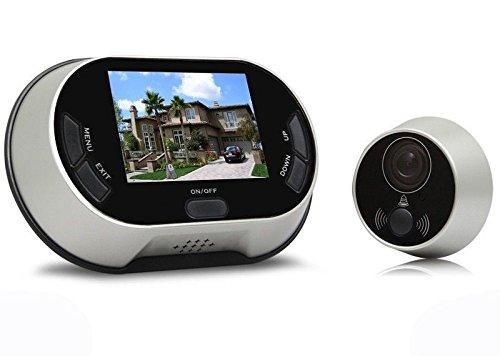 takestop SPIONCINO VIDEOCITOFONO Video CITOFONO IR Telecamera Campanello Monitor 9 Pollici LCD Colori