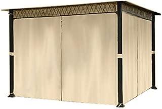 Garden Winds LCM588B Universal 10' x 10' Gazebo Privacy Replacement Curtain, Beige