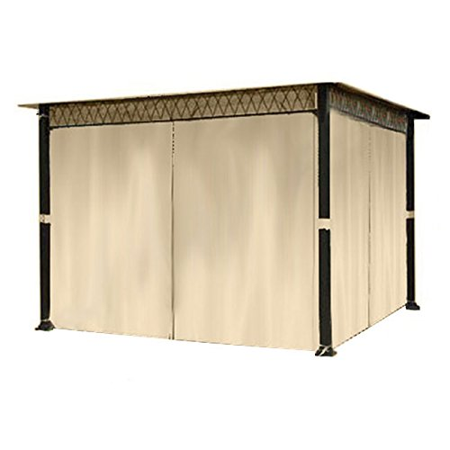 Allen Roth gazebo: Gazebo Privacy Curtain Set