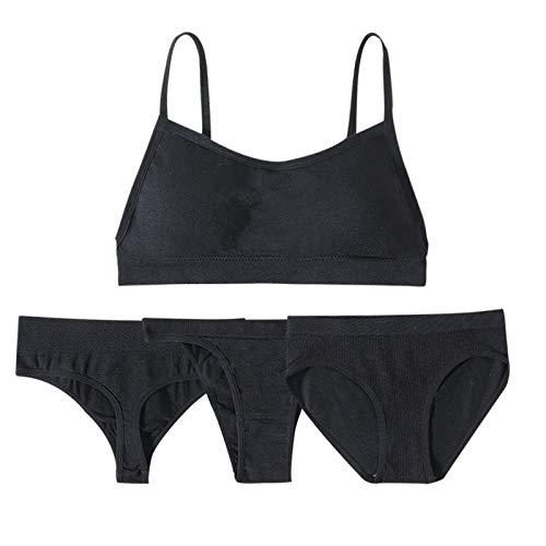 Underwear Conjunto de sujetador y bragas de las mujeres sexy lencería activa sujetador top set femenino tanga tanga push up sujetador 1 sujetador+3 bragas